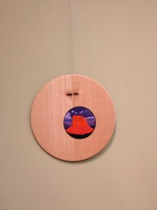 """Wendy's """"Sunset"""" (with David's turned-wood frame/container)"""
