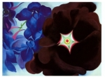 black-hollyhock-blue-larkspur-georgia-okeeffe