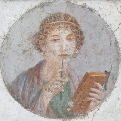 pompeiian woman-writer