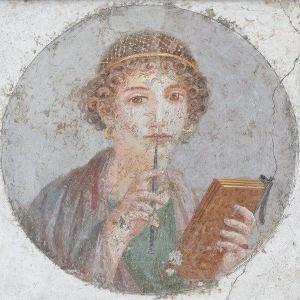 pompeiian woman-writer