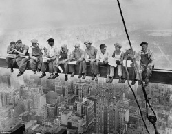 famous photo construction workers
