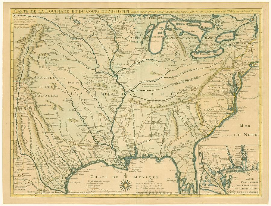 antique-maps-old-cartographic-maps-antique-map-of-louisiana-course-of-mississippi-1718-studio-grafiikka